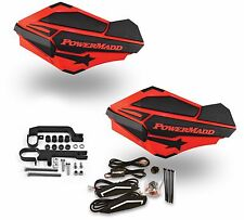 Powermadd Sentinel LED Handguards Guards Red Black Mount Kit Ski Doo Snowmobile