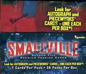 Smallville Season 5 Card Box 36 Packs Inkworks 2006/2007