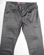Pantalon noir satiné JENNIFER taille 40 (voir mesures)