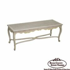 French Louis XV Style Painted Cane Seat Window Bench