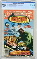 Detective Comics  #494  CGC  9.6  NM+  White pgs 9/80  Crime Doctor cover & App.