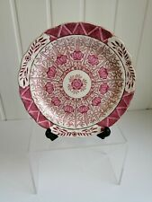 BU Pink serving plate with gold leaf by Royal Cauldon - Chinese Lily design
