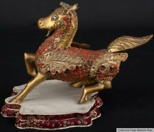 Nepal 20. Jh. Pferd - A Nepalese Gilt Metal Figure Of A Flying Horse - Népalaise