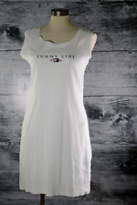 Tommy Hilfiger Women's Casual White Dress Sleeveless Vintage Made in Canada sz M