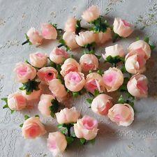 50Pcs Artificial Silk Rose Peony Flower Heads Bulk Craft Wedding Decor Pink New