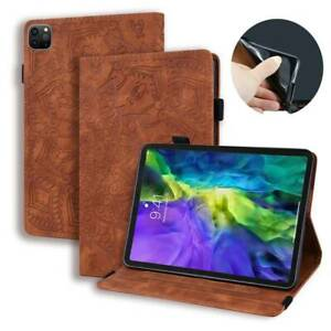 Folding Folio Leather Stand Cover For iPad Pro 12.9 4 5th Gen 2021 W/ card Slots