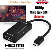 MHL Micro USB to HDMI TV Adapter Cable For Samsung Android Smart Phone 1080P HD