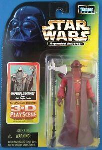 Star Wars Imperial Sentinel w/ Axe Staff weapon, EU Dark Empire green card