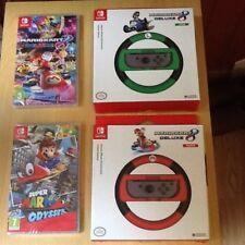 Nintendo Switch (Mario Kart 8 DELUXE) & (Mario ODYSSEY) & Mario & Luigi & Roues