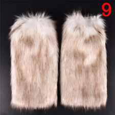 New Lady Women Fluffy Fuzzy Faux Fur Fashion Dance Leg Warmers Muffs Boot-Covers