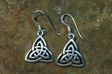 Ohrringe Keltische Ohrhänger Silber Knoten Dreieck  925er Sterlingsilber