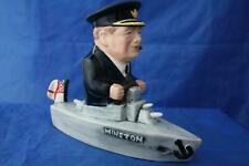 More details for bairstow manor collectables winston churchill in a boat royal navy wwii figure