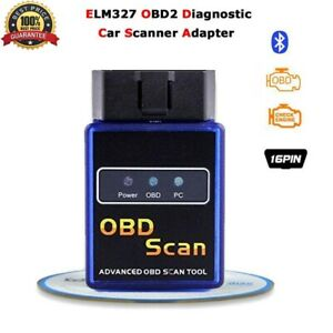 Wireless Bluetooth OBD2 OBDII Diagnostic Scanner Auto Car Code Reader Tool New