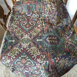 Vtg Ralph Lauren Oxfordshire (?) Southwest Aztec Persian Rug Fabric Twin Sheet