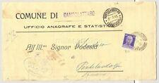 CAMPOLATTARO 1945 - CERTIFICATO anagrafico per Pontelandolfo BN (luogotenenza)