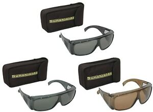 SUNSHIELDS Atlantis Fishing Moulded Polarised Tinted UV400 Sunglasses Inc Case