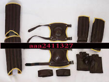 Leathe Harry Potter movies Leg & Arm guard Gloves cosplay Quidditch costume