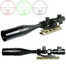 Tactical R/G 6-24X50 Rifle Scope Mil-dot with PEPR Mount +Sunshade+Laser Sight