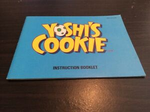 "USED EXCELLENT CONDITION NINTENDO NES ""YOSHI'S COOKIE"" INSTRUCTION BOOKLET"