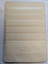 OMEGA Leather Credit Card Document Holder / Wallet