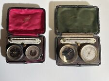 Two Pockets Barometer, Boussole, Thermometer By Jules Richard And Louis Larghi