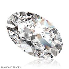1.14ct H-VS1 Ideal Cut Oval Shape AGI 100% Genuine Diamond 8.43x5.41x3.28mm