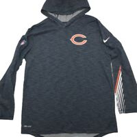 Nike Chicago Bears Men's Medium Blue Lightweight Hoodie Shirt Dri Fit