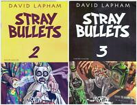 Stray Bullets> Short Run of 2 #'s 2 &3> El Capitan 20 VF to NM> B&B