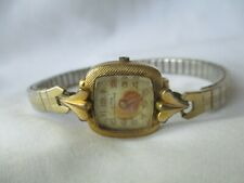 Clyda Lunette Watch Vintage Rare 20 Micron Gold Plated Collectible FOR REPAIR
