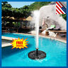 180L/H Solar Power Fountain Water Pump Floating Panel Garden Pool Plants Pond