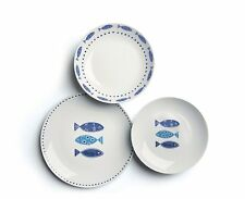 ️ Excelsa 50249 Ocean Servizio Tavola porcellana Bianco/azzurro