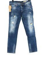 ANTONY MORATO KEITH Herren Jeans Hose stretch Slim Destroy G.34 W35 L30 Blau Neu