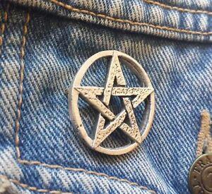 Pentangle Pentagram Pewter Pin Badge