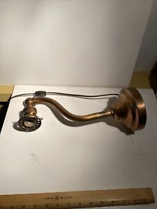 lot of 3  Vintage copper  Wall Lamp Sconce Loft Rustic Light Fixture arm rewired