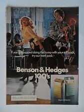1976 Print Ad Benson & Hedges Cigarettes ~ Got Bopped Doing the Bump