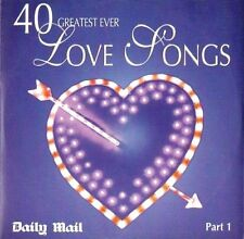40 GREATEST EVER LOVE SONGS PART 1 = TRACKS LISTED BELOW= PROMO = VGC