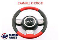 BMW Mini Cooper R55 R56 R60 NEW Black / Red Leather Sport Steering Wheel 3 Spoke