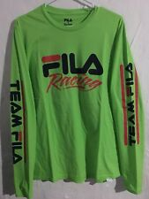 FILA X Sanrio Hello Kitty Racing Green Long Sleeve T-Shirt Men Sz Medium NEW!