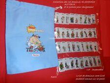 ASTERIX  Belle Collection Complète  Lot 36 Dominos porcelaine  Pochon Rangement