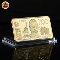 WR Gold Art Bar Bullion Australian $100 Dollar Novelty Banknote Rare Collection