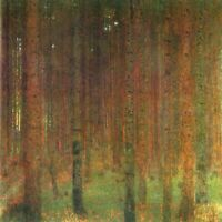 Tannenwald II by Gustav Klimt Giclee Fine Art Print Reproduction on Canvas