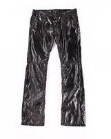 INC Mens Pant Black Size 34x30 Patent Faux Leather Slim Straight Stretch $79 187