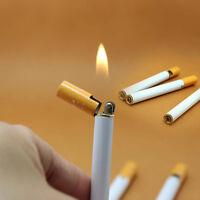 Funny Windproof Cigarette Shaped Jet Flame Refillable Butane Gas Cigar Lighter