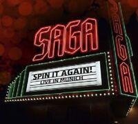 SAGA - SPIN IT AGAIN-LIVE IN MUNICH  CD  19 TRACKS CLASSIC ROCK & POP  NEU
