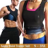 Fajas Colombianas Fat Burner Abdomen Sauna Body Shaper Sweat Vest Weight Loss US