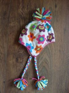 Girl's NEXT sz 3-6 years multicoloured flees 100%polyester autumn winter hat