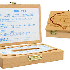 Personalised Wooden Tooth Fairy Box High Quality Timber Baby Keepsakes Kids .