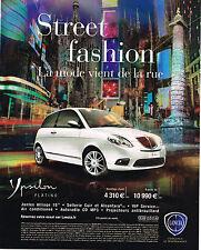 PUBLICITE ADVERTISING 094  2010   LANCIA   YPSILON  PLATINO
