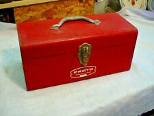 Vintage Proto Professional 9954 Metal Red Tool Box With Tray 16 Long X 7 X 7