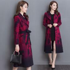 Fashion Women Warm Slim Wool Blend Long Coat Jacket Outwear Winter Coat